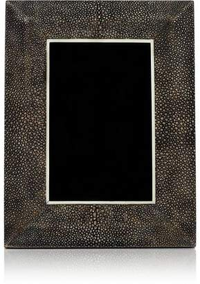 """R & Y Augousti Shagreen-Covered Wood 4"""" x 6"""" Picture Frame"""