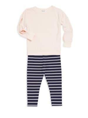 Splendid Baby Girl's & Little Girl's Two Piece Cotton-Blend Top & Leggings Set
