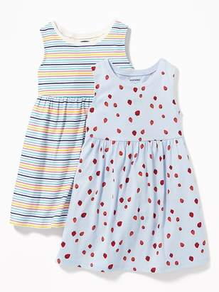 Old Navy 2-Pack Printed Sleeveless Fit & Flare Dress for Toddler Girls
