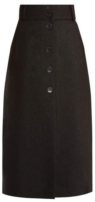Fonda wool-blend midi skirt