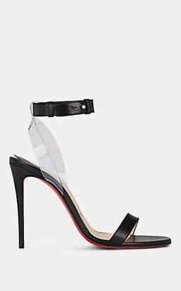 Christian Louboutin Women's Jonatina Leather & PVC Sandals - Black