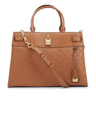 Michael Kors Gramercy Embossed Leather Top Handle Bag Colour: ACORN, S