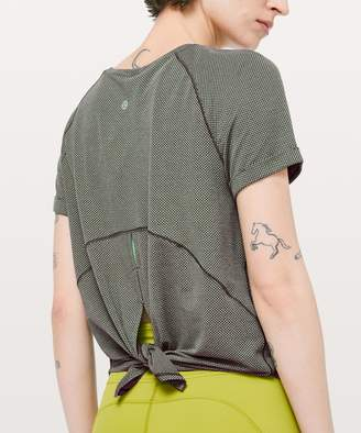 Lululemon Open Up Tie Back Tee