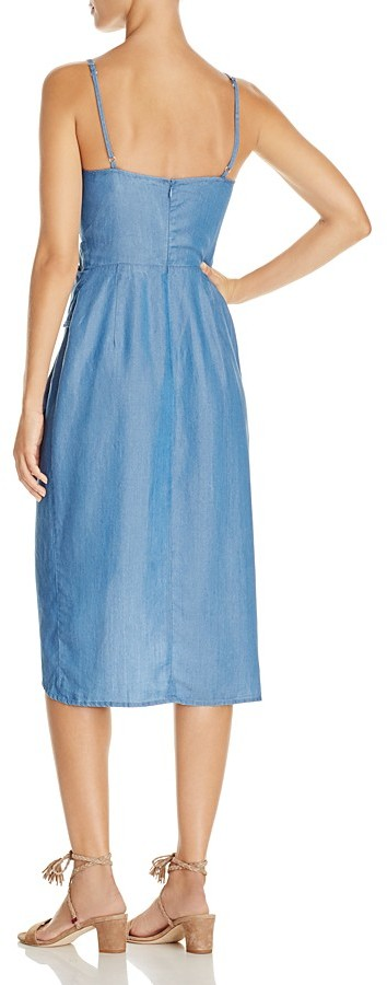 Lovers and Friends Orchid Chambray Wrap Effect Dress 2