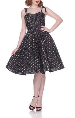 Bettie Page Clothing Flamingo Swing Dress