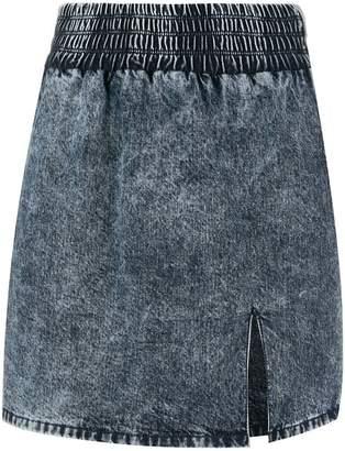 Miu Miu stained denim skirt