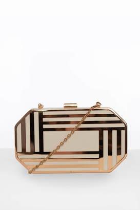 Glamorous Gold Metal Art Deco Clutch Bag