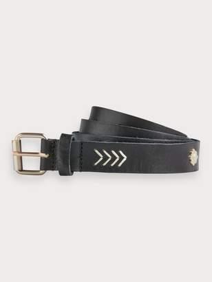 Scotch & Soda Studded Leather Belt