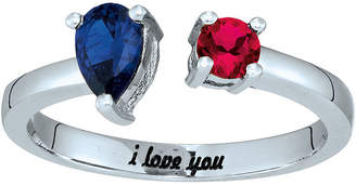 FINE JEWELRY Personalized Simulated Birthstones Sweetheart Couples Ring