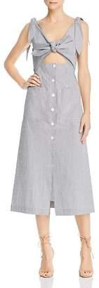 Alice McCall Make Sense Striped Cutout Midi Dress