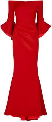Jovani Off-The-Shoulder Scuba Gown