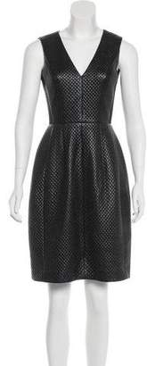 BCBGMAXAZRIA Textured Faux Leather Dress