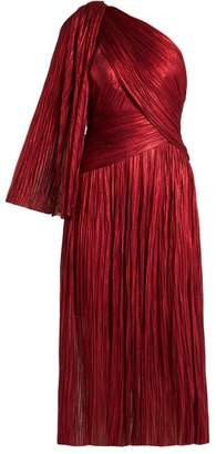 Maria Lucia Hohan Aquila One Shoulder Silk Dress - Womens - Red