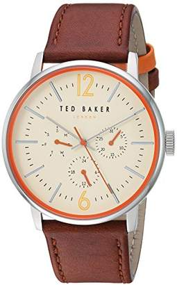 Ted Baker Men's 'Jason' Quartz Stainless Steel and Leather Chronograph Watch