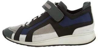 Pierre Hardy Reflective Leather Sneakers