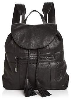 Halston Jerry Medium Leather Backpack