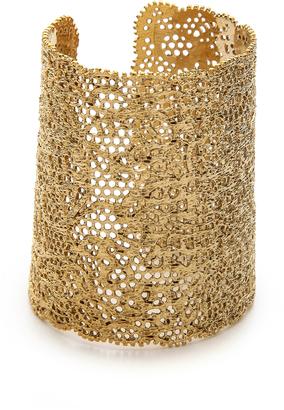 Aurelie Bidermann Vintage Lace Cuff $745 thestylecure.com