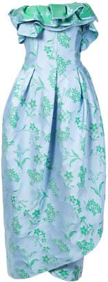 Carolina Herrera floral strapless petal gown