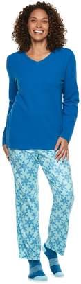 Croft & Barrow Petite Fleece 3-piece Pajama Set