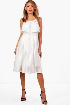 boohoo Boutique Eloise Panelled Double Layer Skater Dress
