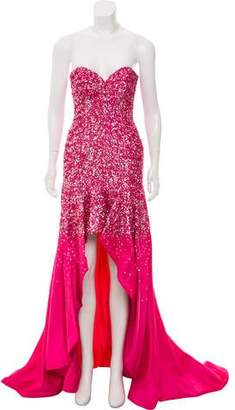 Terani Couture Embellished High-Low Gown