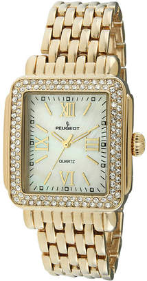 Peugeot Womens Crystal-Accent Panther-Link Watch 7080G