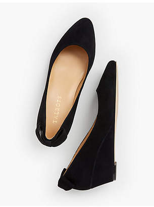 Talbots Laney Back-Bow Wedge - Suede