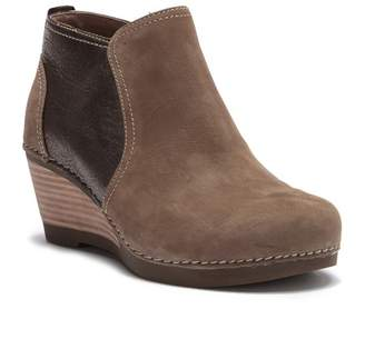 Dansko Susan Nubuck Leather Wedge Bootie
