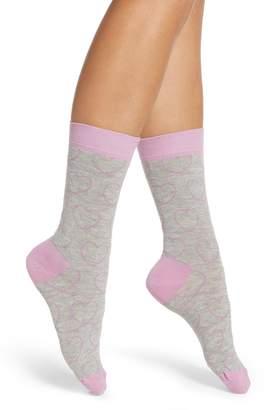 Happy Socks Ladies Love Line Crew Socks