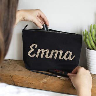 Ellie Ellie Personalised Name Makeup Bag