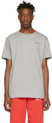 Off-White Off White Grey Slim Logo T-Shirt
