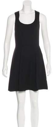 Rachel Zoe Bow-Accented Sleeveless Mini Dress