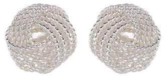 Argentovivo Textured Knot Stud Earrings