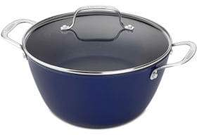 Cuisinart Cast Iron Lite Cookware 5.25 Qt Dutch Oven with Cover in Blue