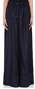 Sacai Women's Medallion Jacquard Wide-Leg Pajama Pants - Navy