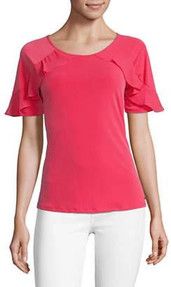 Calvin Klein Ruffled Short-Sleeve Tee