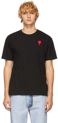 Comme des Garcons Black Long Heart Patch T-Shirt