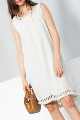 THML Clothing Sleeveless Gathered Dress