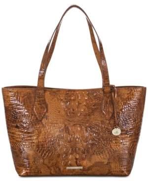 Brahmin Athena Tamarind Melbourne Embossed Leather Tote