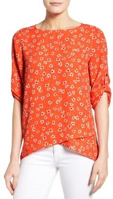 Women's Chaus Ditsy Print Asymmetrical Blouse $69 thestylecure.com