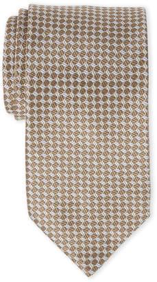 Lanvin Grey Neat Circle Silk Tie