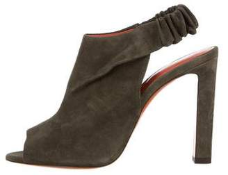 Santoni Suede Slingback Sandals