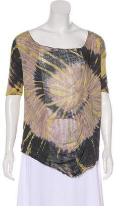Raquel Allegra Printed Short Sleeve Top