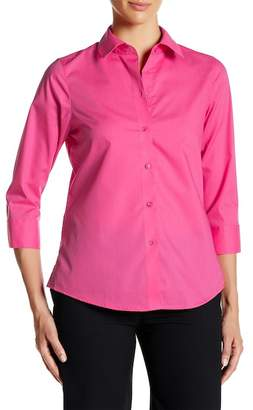 FOXCROFT 3/4 Length Sleeve Shaped Fit Shirt $59 thestylecure.com
