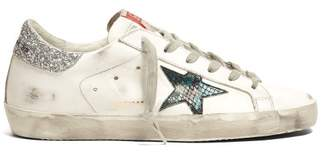 Golden Goose Superstar Low Top Leather Trainers - Womens - White Silver