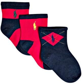 Ralph Lauren Boys' Multi Socks, 3 pack - Baby