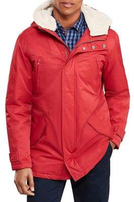 Brooks Brothers Red Fleece Sherpa-Lined Hooded Parka