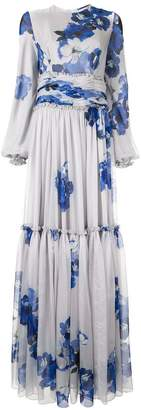 Costarellos floral maxi dress