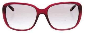 Tiffany & Co. Jewel-Embellished Oversize Sunglasses w/ Tags