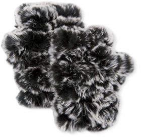Jocelyn Fingerless Rabbit Fur Mittens